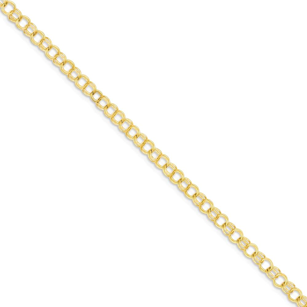 ICE CARATS ICE CARATS 14kt Yellow Gold 3.5mm Solid Double Link Charm Bracelet 7 Inch Fine Jewelry Ideal Gifts For Women... by IceCarats