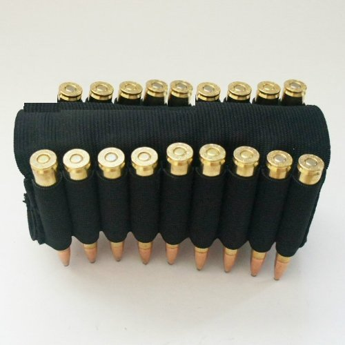 Ultimate Arms Gear 18 Round Rifle Ammo Shot Shell Cartridge Hunting Stock Buttstock Slip Over Carrier Holder Fits .223 5.56 .308 308 Ruger Rifle