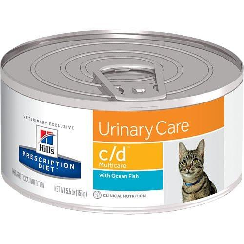 Hill's Pet Nutrition c/d Urinary Care with Ocean Fish Canned Cat Food 24/5.5 oz
