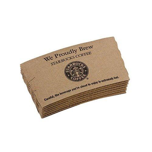 Starbucks Coffee Hot Cup Sleeves, 1200 per Carton, Brown Kraft