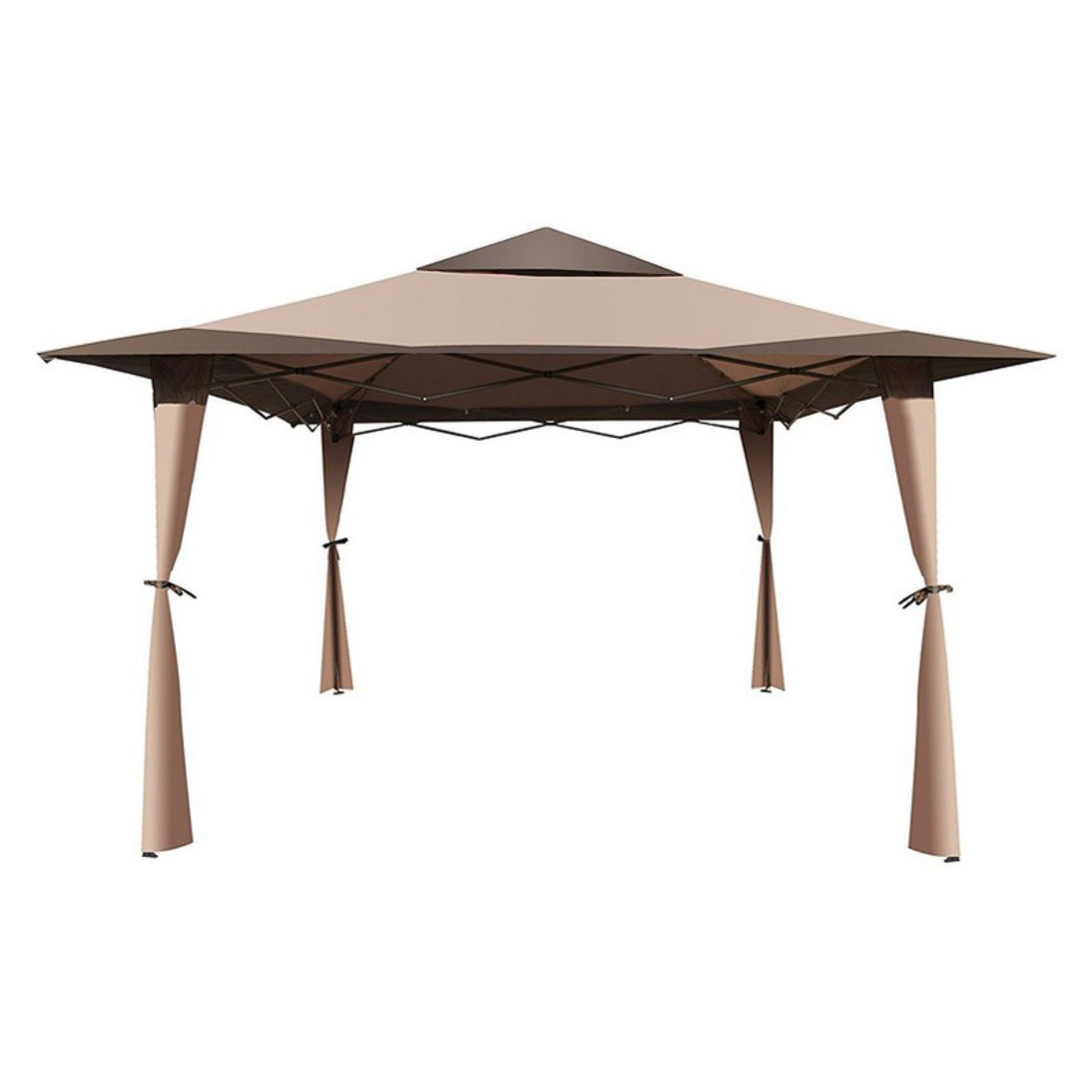 ALEKO GZB004 Double-Roof Polyester Patio Gazebo Canopy Brown 10u0027 x 10  sc 1 st  Walmart & ALEKO GZB004 Double-Roof Polyester Patio Gazebo Canopy Brown 10 ...