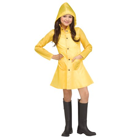 Yellow Raincoat Child Costume