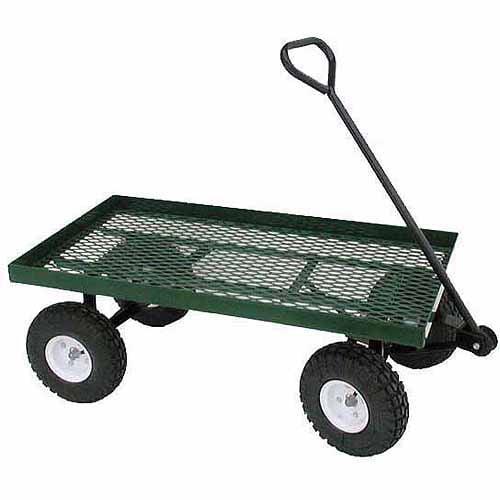 """Millside Industries 20x38WFF 20"""" x 38"""" Metal Deck Wagon"""
