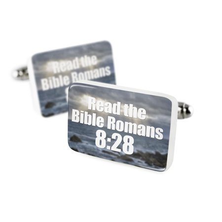 Cufflinks Read The Bible Romans 8 28Porcelain Ceramic Neonblond