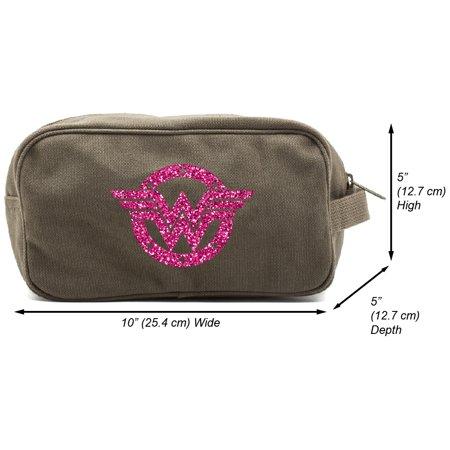 Wonder Woman Logo Canvas Shower Kit Travel Toiletry Bag