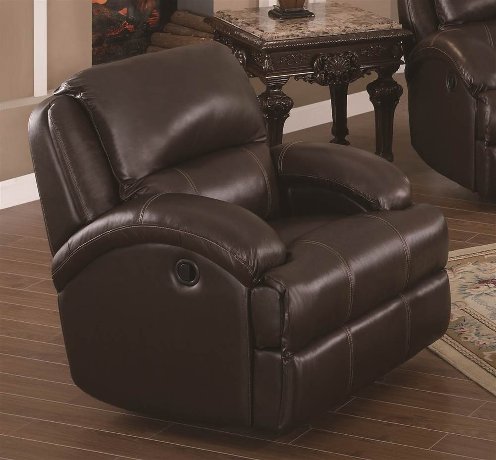 Leather Air Glider Recliner Chair