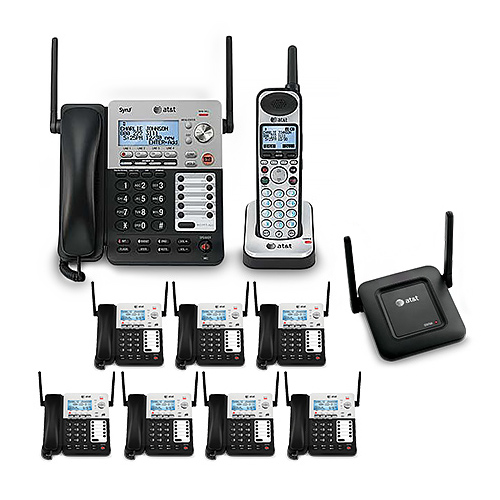 AT/&T SB67148 4-Line DECT 6.0 1.9GHz Corded Cordless  Phone NEW!!