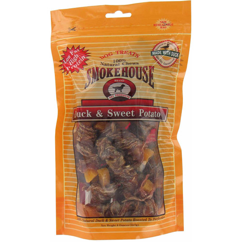 Smokehouse Pet Products Duck and Sweet Potato Dog Treats, 8-Oz