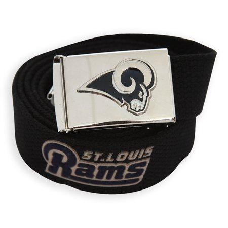 Web Belt with Buckle Rams NFL