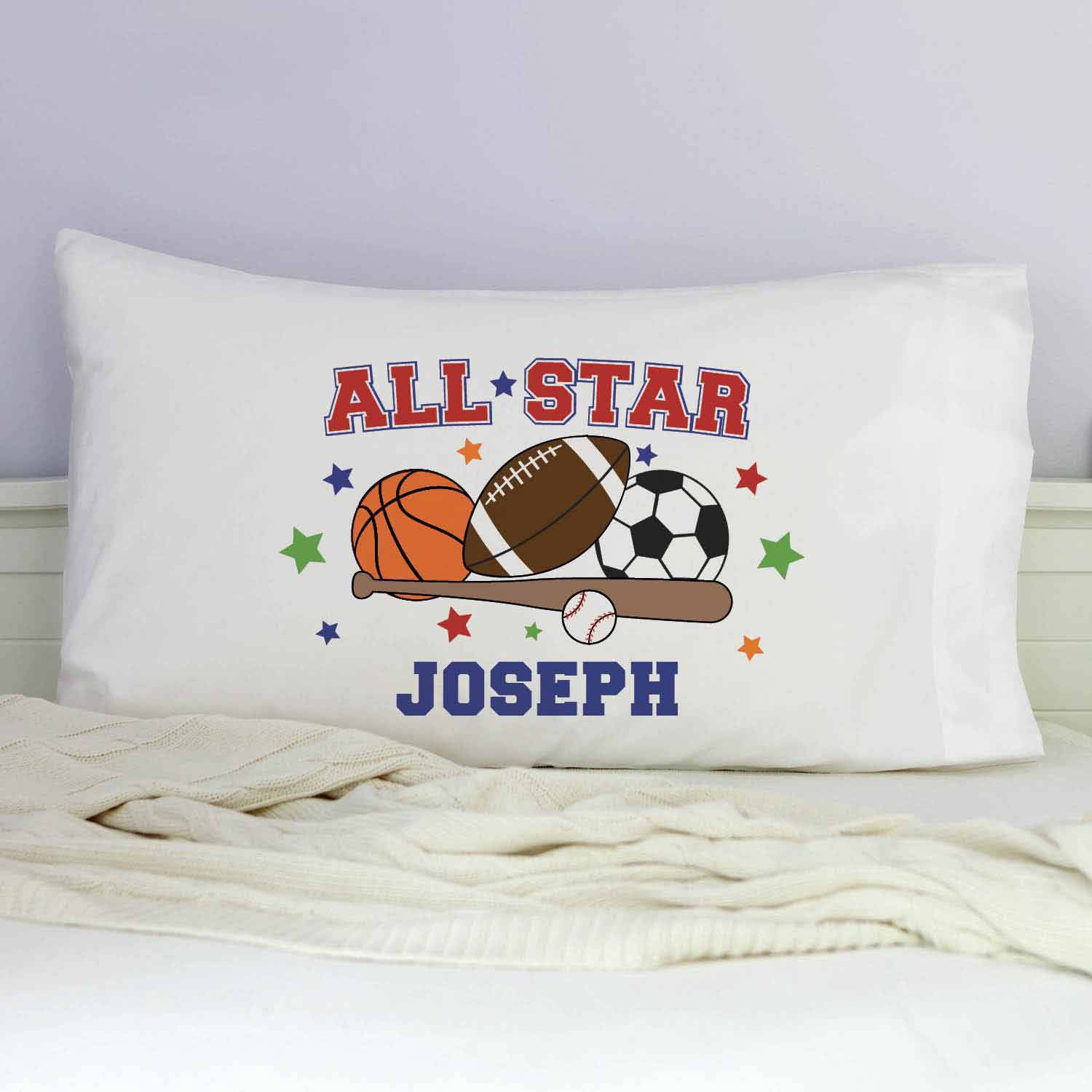 Personalized All Star Sports Pillowcase