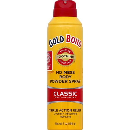 GOLD BOND No Mess Body Powder Spray Classic Scent, 7oz