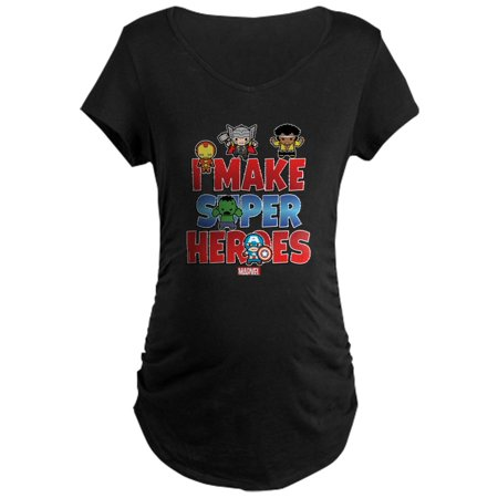 CafePress - I Make Super Heroes Maternity Dark T Shirt - Maternity Dark - Cafepress Maternity Halloween Shirts