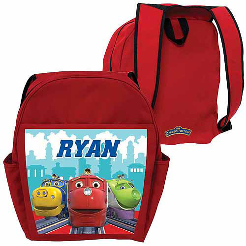 Personalized Chuggington Brewster, Wilson and Koko Red Backpack