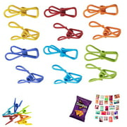 60X Multi Purpose Clips Colored Kitchen Metal Food Sealing Bag Snack Chip Holder