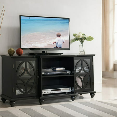 K&B Furniture 47 in. Wood TV Stand with 2 Glass Doors ()