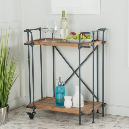 LLC Colleen Antique Finish Firwood and Iron Coffee
