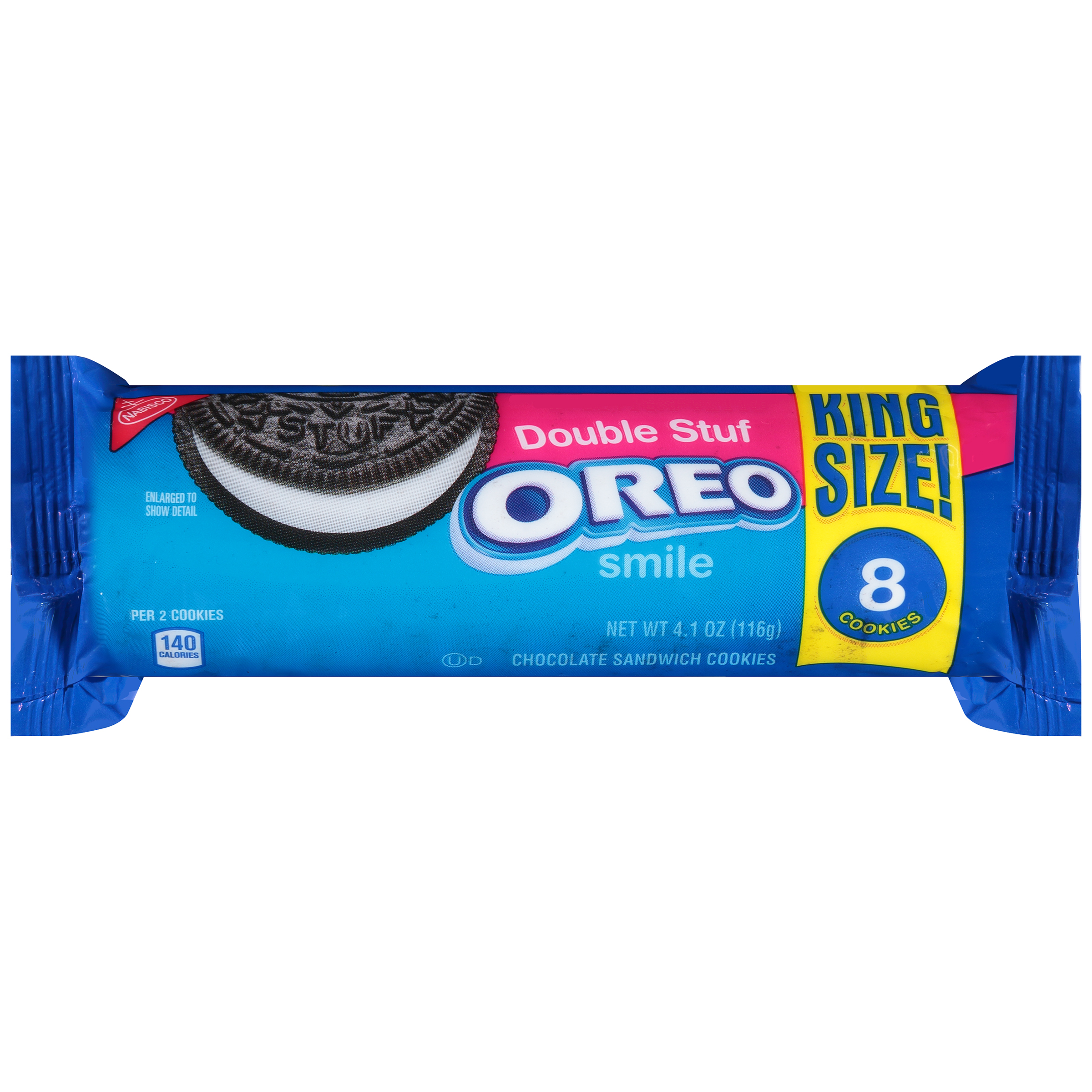 Nabisco Oreo Double Stuf Chocolate Sandwich Cookies, 8 ct, 4 oz