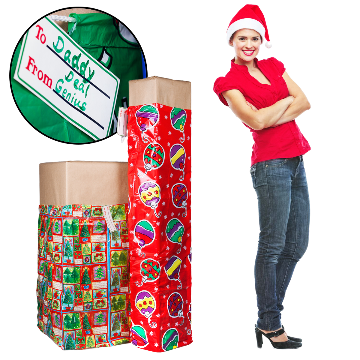 2 xl christmas holiday gift bags for big presents set tags lot jumbo large bulk walmartcom