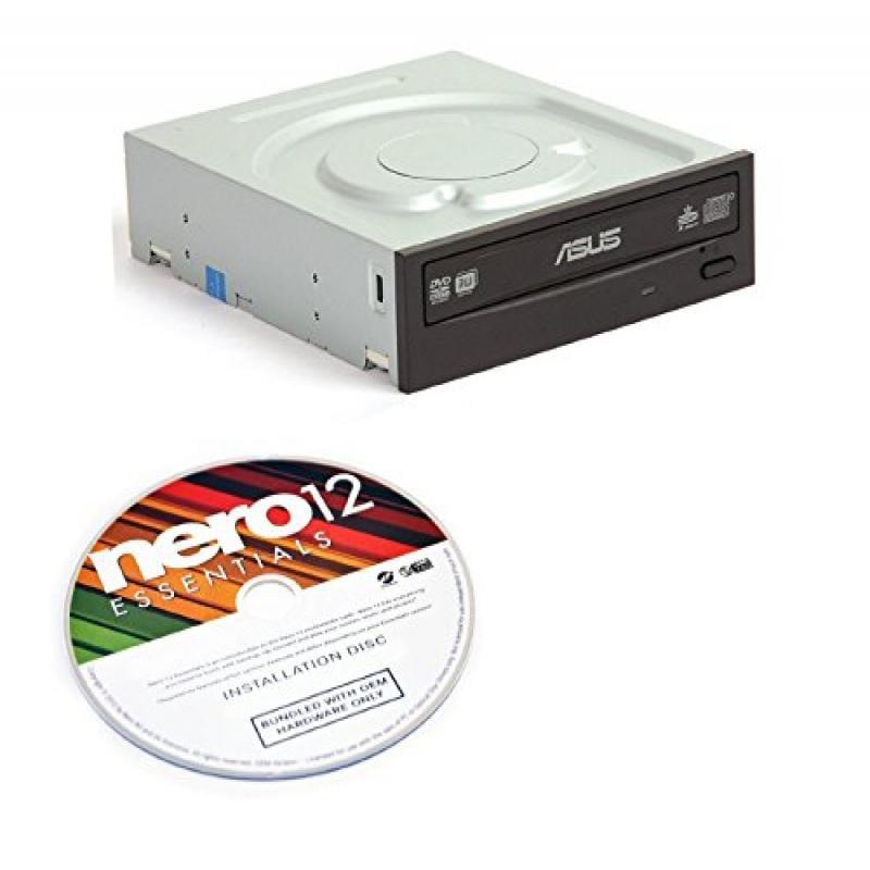 Asus 24xDVD-RW Serial ATA Internal OEM Drive DRW-24B1ST (Black) Bulk + Nero Multimedia Suite 12 Essentials CD/DVD Burning Software