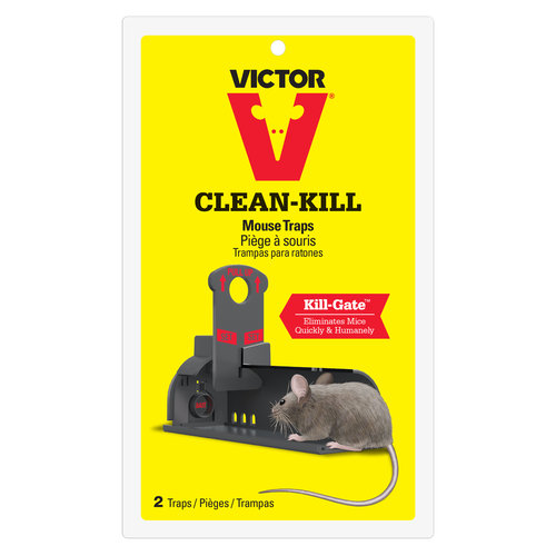 Victor Clean-Kill Mouse Traps, 2 count