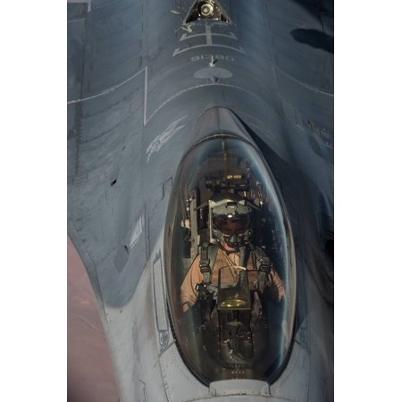 Canvas Print A U.S. Air Force F-16 Fighting Falcon prepares to be refueled by a U.S. Air Force KC-135 Stratotanke Stretched Canvas 10 x 14 Air Force Kc 135
