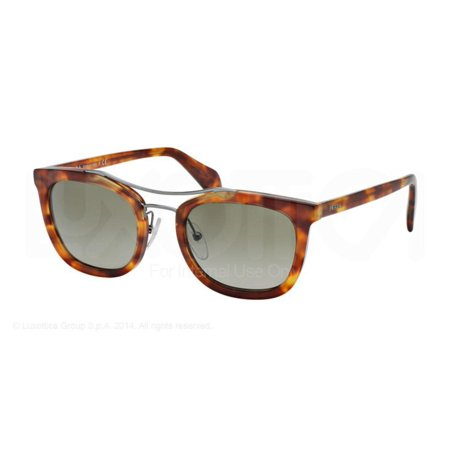 Authentic Prada Sunglasses SPR17Q 4BW-1X1 Light Tortoise Frames Brown Lens (Prada Eyewear Online)