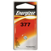 Energizer 377 Batteries (1 Pack), Silver Oxide Button Cell Batteries