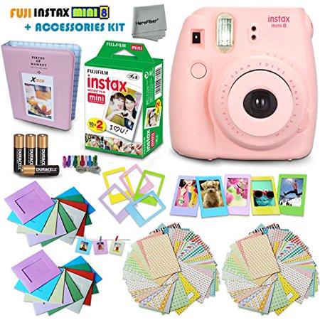 Buy FujiFilm Instax Mini 8 Camera PINK + Accessories KIT for Fujifilm Instax Mini 8 Camera includes: 20...