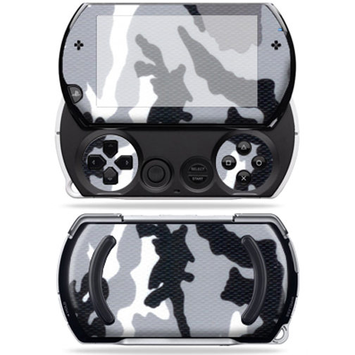 Mightyskins Protective Vinyl Skin Decal Cover for Sony PSP Go System wrap sticker skins Grey Camo