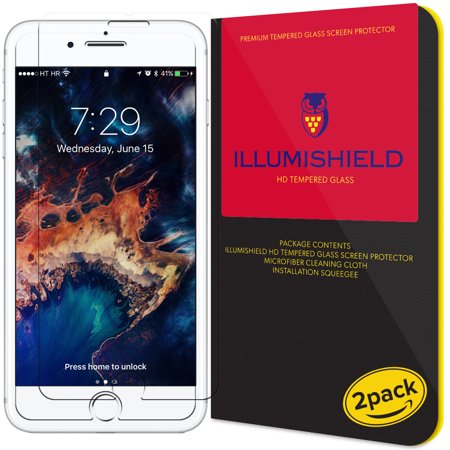 iLLumiShield Tempered Glass [2-Pack] Screen Protector Shield for iPhone 7