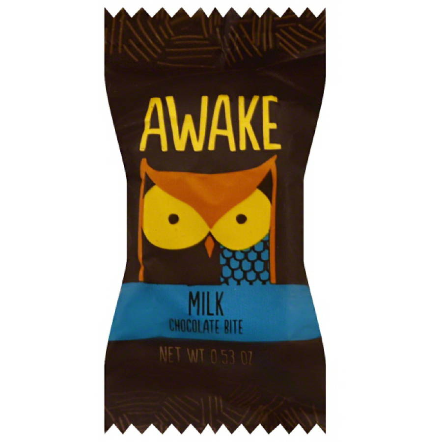 Awake Milk Chocolate Bite, 0.53 oz, (Pack of 50) by