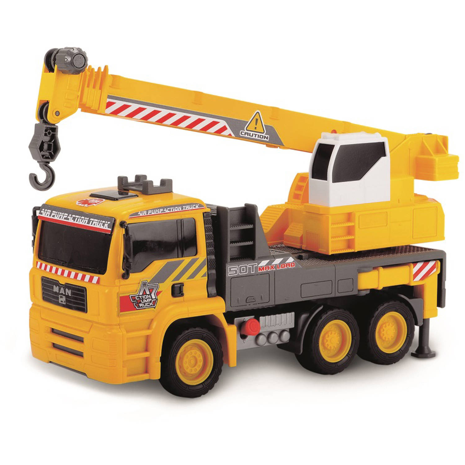 """Dickie Toys 12"""" Air Pump Action Mobile Crane Truck"""