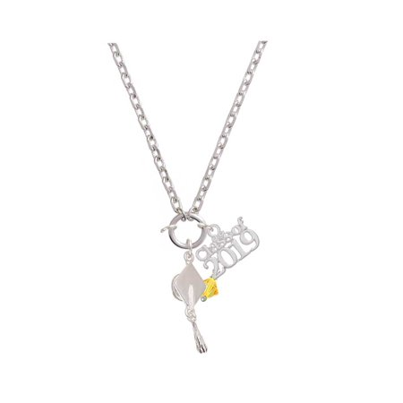 Sunflower - 6mm Crystal Bicone - Class of 2019 Graduation Zoe Necklace](Class Necklaces)