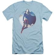Supergirl Cloudy Circle Mens Slim Fit Shirt