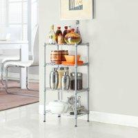 Ktaxon 4 Tier Corner Shelves Wire Shelving Rack Shelf Adjustable Storage Unit Organizer