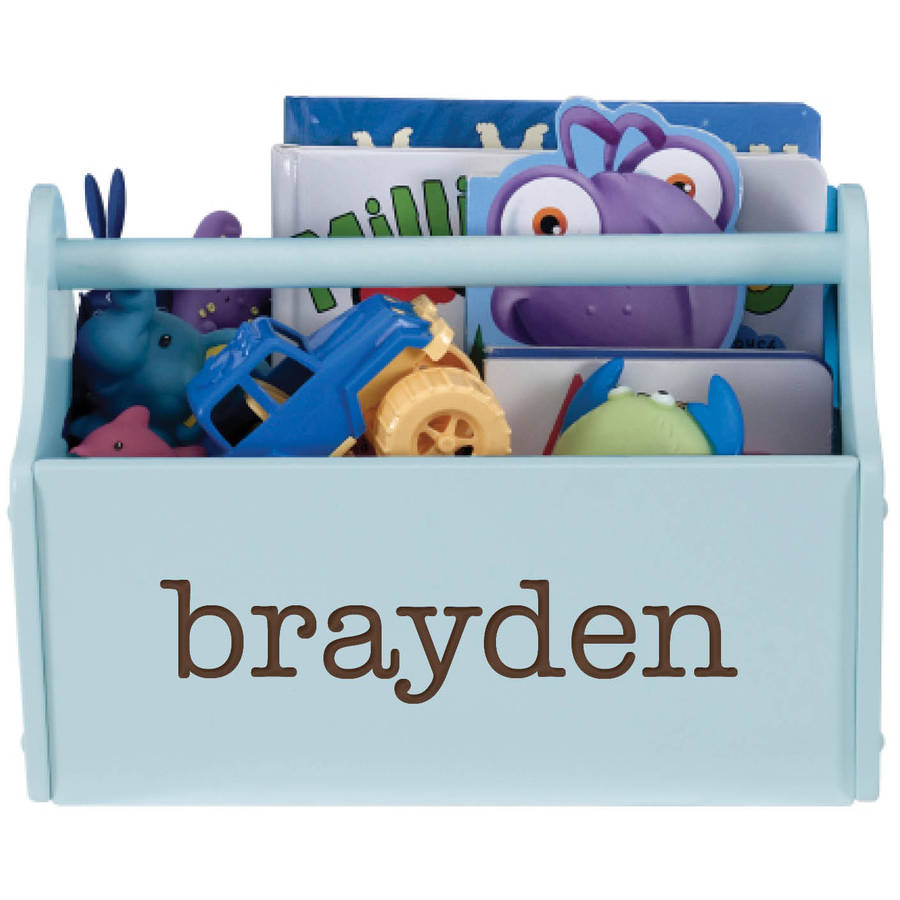 Personalized My Name Light Blue Toy Caddy