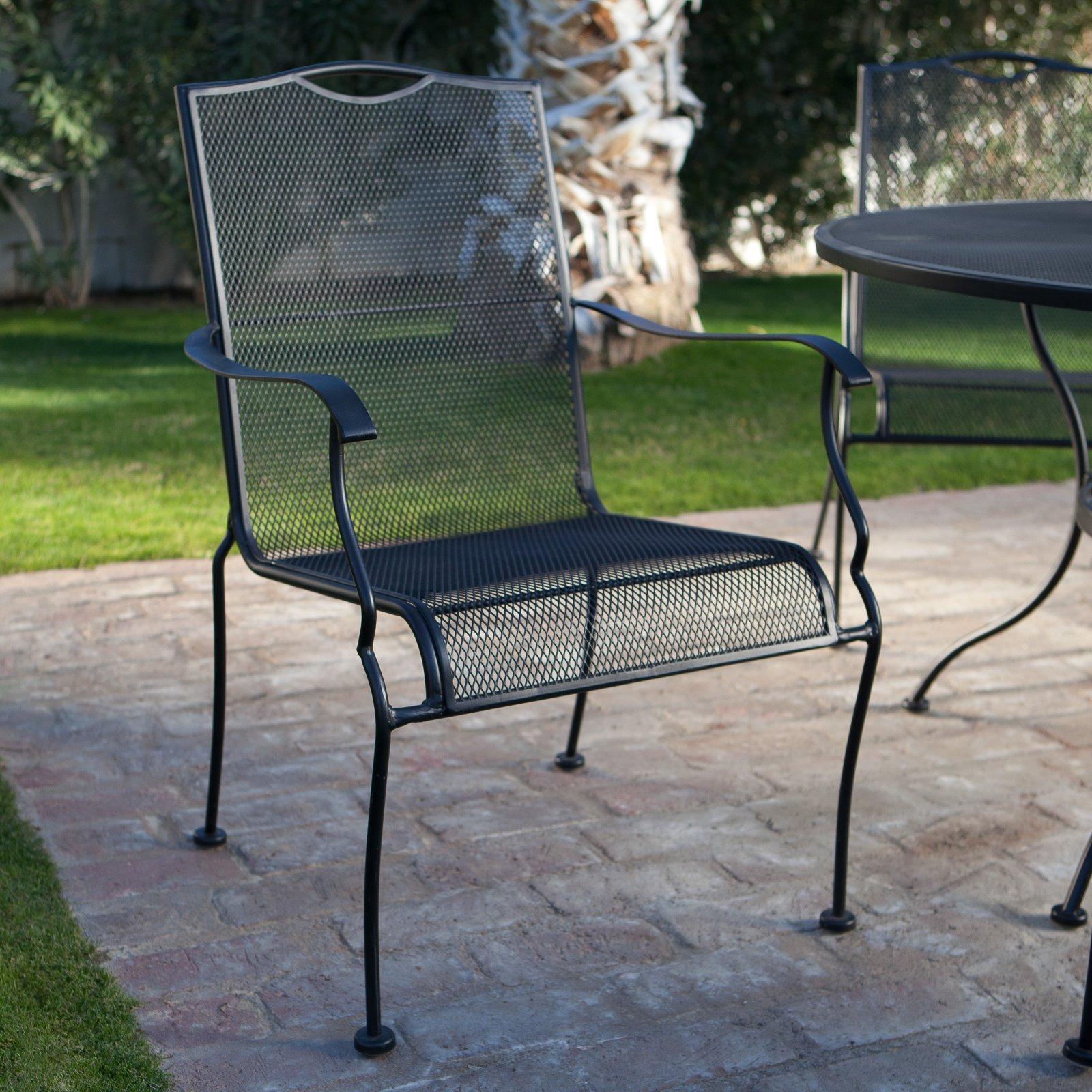 Woodward Belham Living Stanton Wrought Iron Dining Chair ...