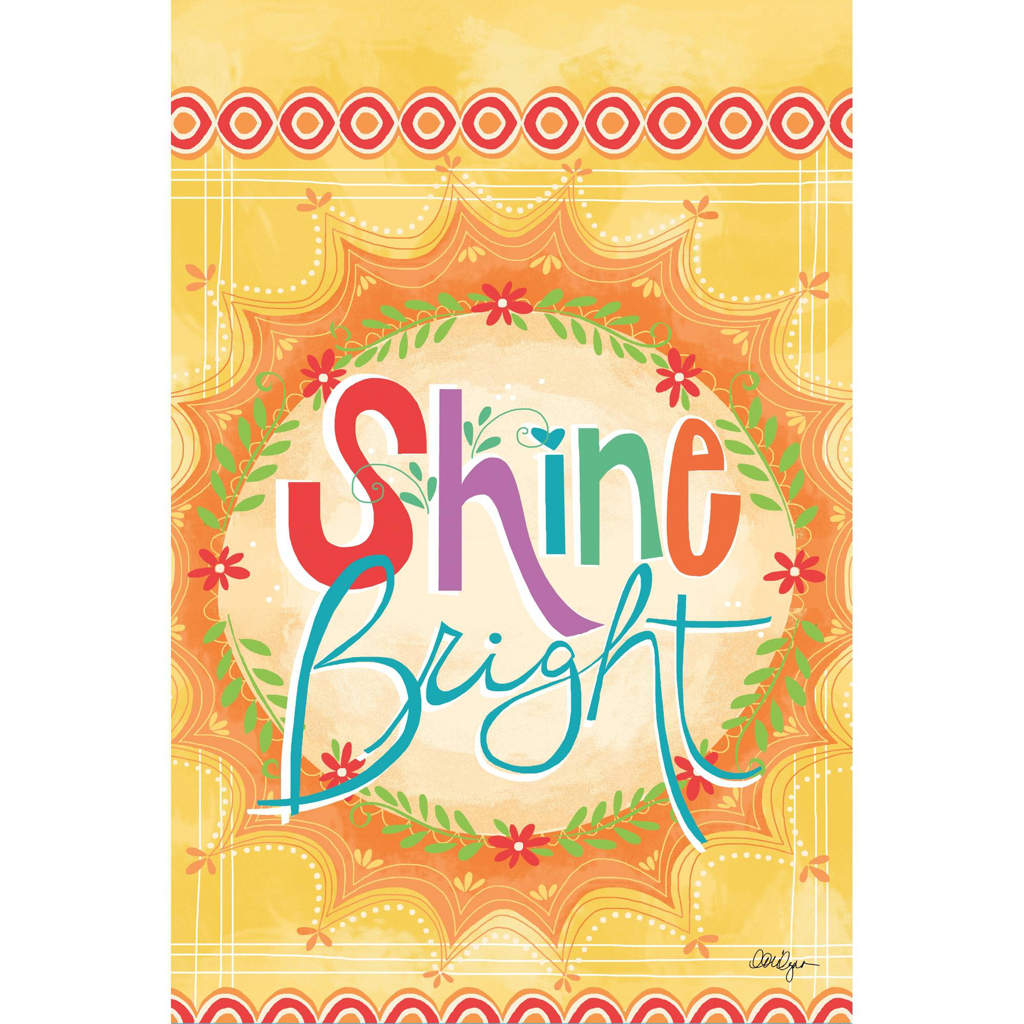 "Well Street by Lang ""Shine Bright"" Mini Garden Flag, 12"" x 18"""