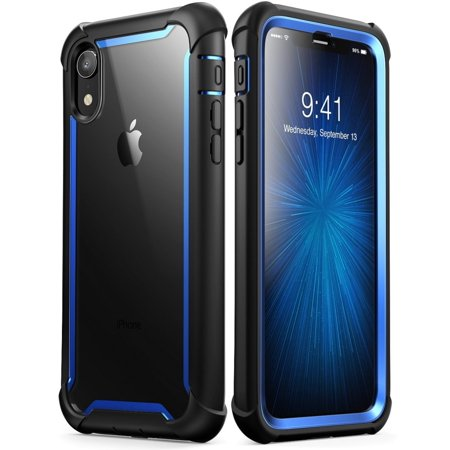 big sale 1866b 29bad iPhone XR Case, i-Blason [Ares] Full-Body Rugged Clear Bumper Case with  Built-in Screen Protector for Apple iPhone XR 6.1 Inch (2018 Release)(Blue)