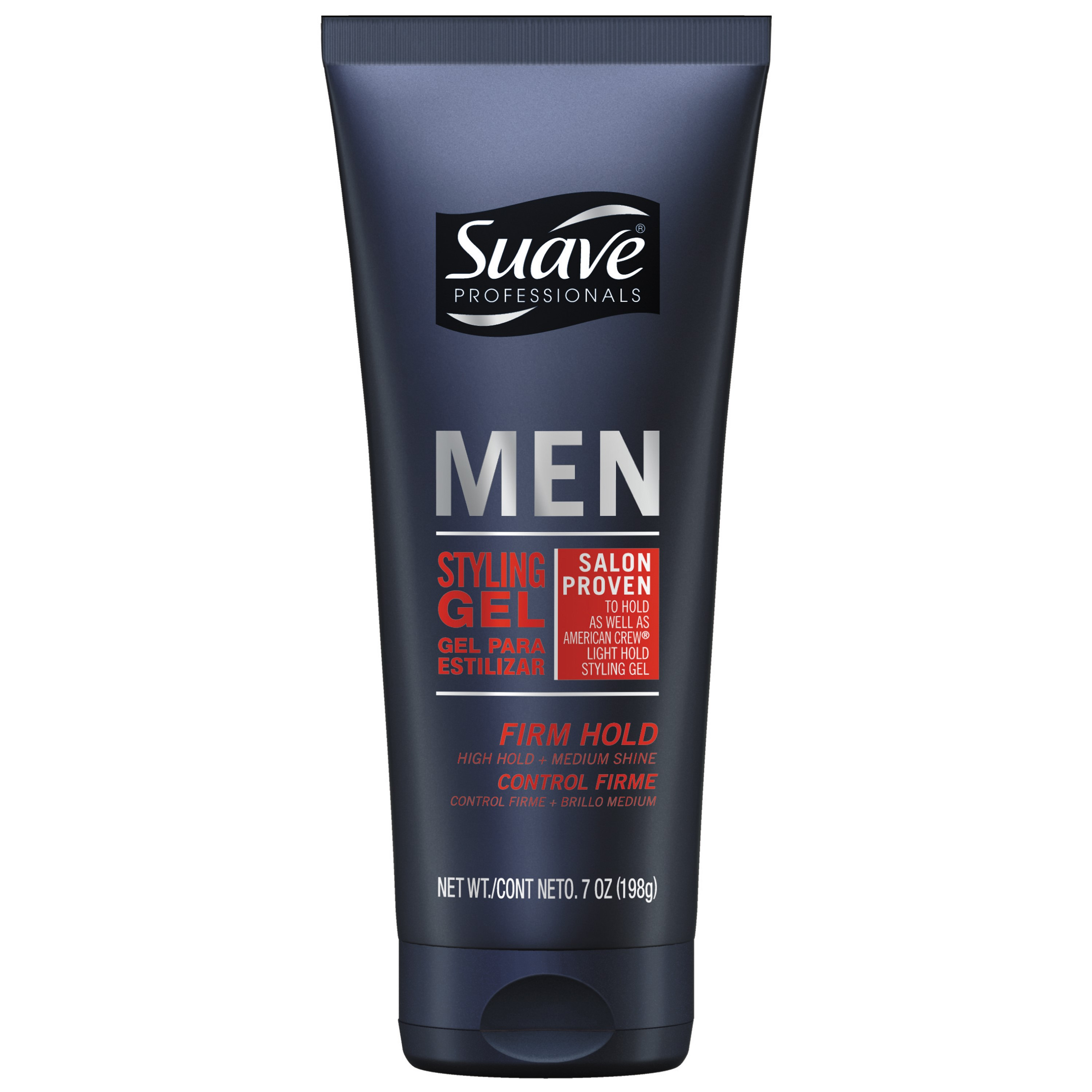 Suave Men Firm Control Styling Gel with Medium Shine, 7 oz