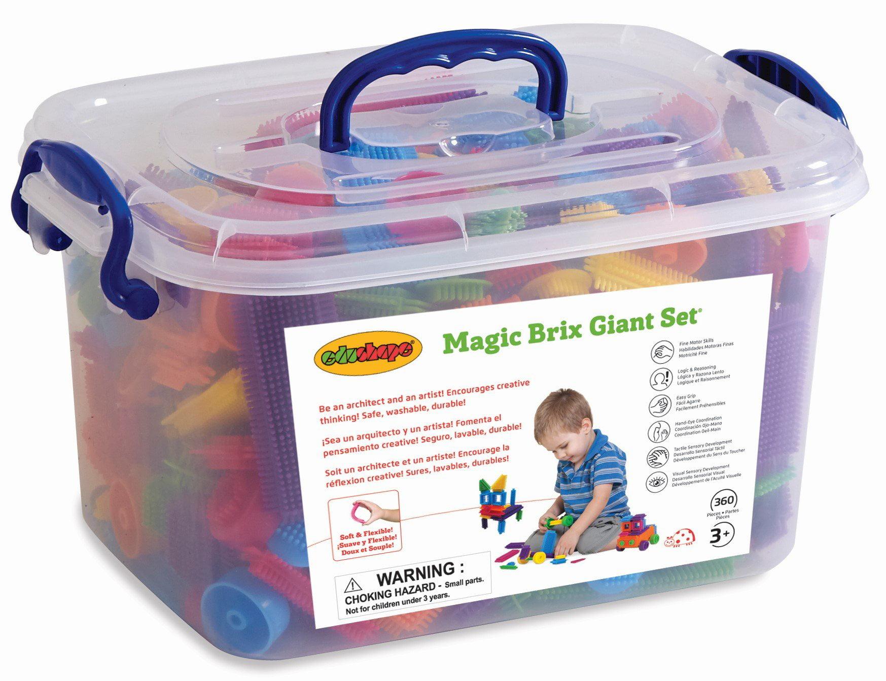Edushape Magic Brix Giant Set, 360 Piece by