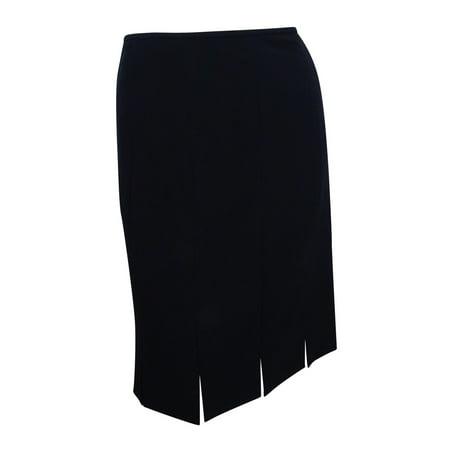 Kasper Women's Petite Fringe Slit Pencil Skirt (6P, Black)