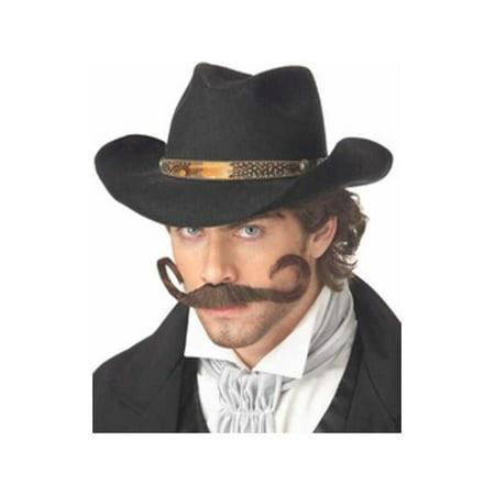 Adult Gunslinger Cowboy Costume Moustache - Gunslinger Mustache