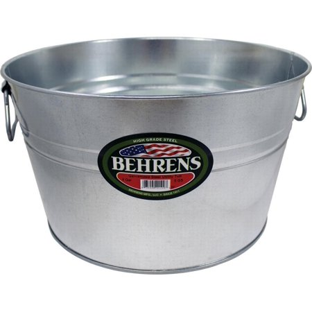 Behrens High Grade Steel 0GS 5 Gal Silver Galvanized Steel Pail