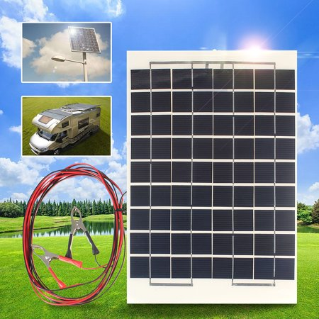 Elfeland 10w 12v Flexible Solar Panel Solar Cell Battery