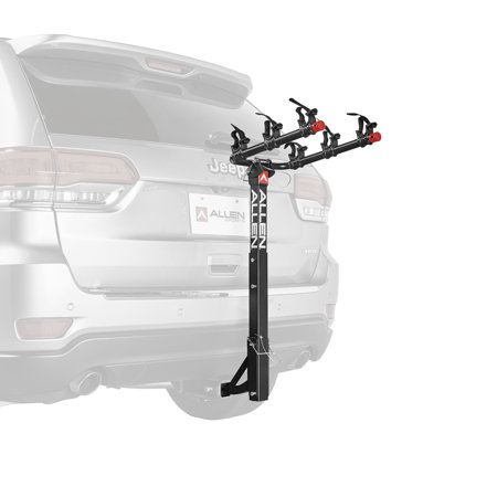 Allen Sports Deluxe 3-Bicycle Hitch Mounted Bike Rack Carrier, (Bell Triple Back 3 Bike Rack Instructions)