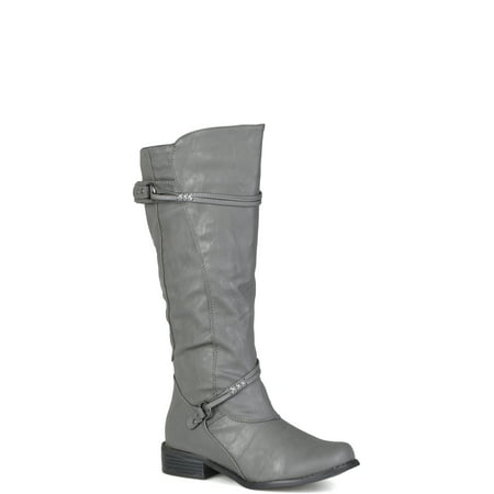 Women's Buckle Accent Tall Boots Buckle Detail Tall Boots