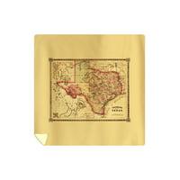 Texas - (1866) - Panoramic Map (88x88 Queen Microfiber Duvet Cover)