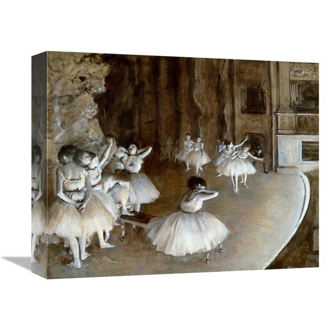 16 In. Ballet Rehearsal On The Set, 1874 Art Print