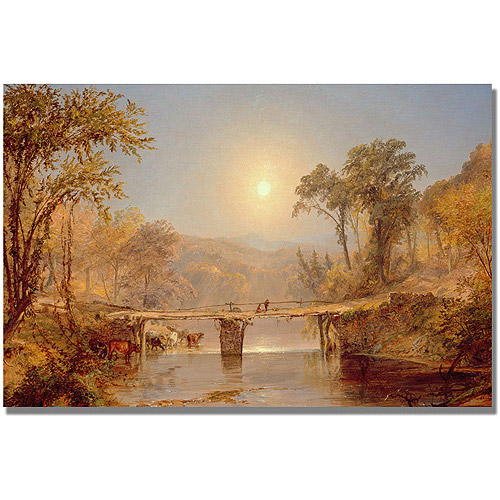 "Trademark Fine Art ""Indian Summer on the Delaware"" Canvas Art by Jasper Cropsey"